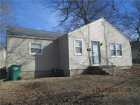 Ranch design with vinyl siding! Great opportunity to