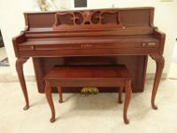Beautiful Kawai piano for sale with matching bench.