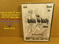 A set of DVDs of all 71 Amos and Andy TV programs from