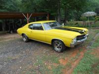 71 Chevelle, clean title, motor runs, 350, not initial