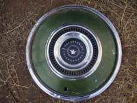 Set of 2 72-74 Ford Thunderbird wheel covers. DK Green