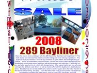 2008 289 Bayliner Discovery Brave the ocean, rivers and