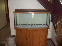 This fish tank is just like new. The stand is included