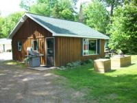 This Northern Wisconsin cottage is located on beautiful