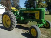John Deere 720 Diesel, Pony start. Both motors run