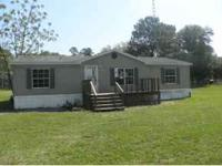 3 BEDROOM 2 BATH MOBILE ON ALMOST 10 ACRES. OPEN