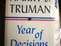 Memoirs By Harry S. Truman Vol. I 1955 Limited Kansas
