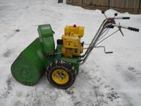 John Deere snowblower model 726, This unit has tire