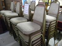 Lot of 72 Stacking Banquet Chairs  by Superior Products