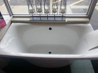 "72x36 Freestanding Kohler ""Escale"" bath in White with"