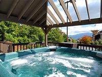 The Gatlinburg High Chalet is a panoramic, unique