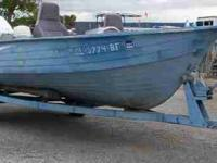 74 Mirro Craft 16' Light weight aluminum Hull Task