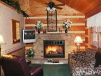 """""""SWEET SECLUSION"""" -- REAL LOG CABIN, ROMANTIC DECOR,"""
