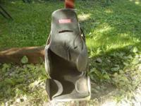 Aluminum stock car seat with cover.$75 It will clean up