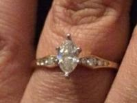 Diamond engagement ring is being sold out of necessity.