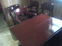 Cherry Table With 4 Matching Heavy Duty ChairsCherry