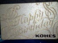 I have a 75$ kohls gift card I'm selling for 60$! It