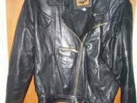 Size medium Foxrun motorcycle jacket in a deep brown