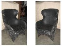 Matching Black Woven Leather Chairs - $75 These chairs