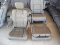 BRAND NEW unused LEATHER bucket seats , Brown & Light