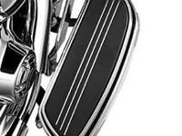 Swept Wing Rider Footboard Pans - Chrome Add a sleek