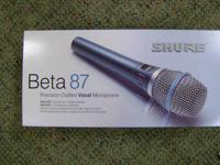 Up for sale is this new Beta 87 Mic. I can be reached @
