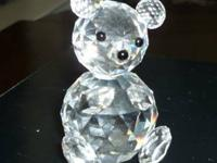 This is a Swarovski Crystal Large Bear that was Retired