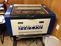 75 Watt Helix Epilog Laser device available for sale.