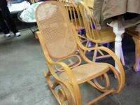 Wicker rocking chair in good condition. For more
