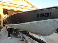 I AM SELLING MY 16ft LUND ALUMINUM DEEP V FISHING BOAT.