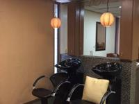 Fully remodeled beauty salon.  It has two shampoo