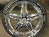 CZ CHROME RIMS & TIRES 20 INCH - 4 / 5 LUG - 4X100 /