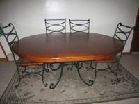 Barely used, beautiful dining room table with 6