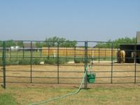 Round pen only used 18 months, painted dark green.