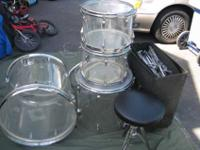 Vintage 1970 Zickos 4 Piece Artistry drum set with lots