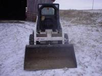 2002 753 Bobcat skid loader for sale with 342 hours.