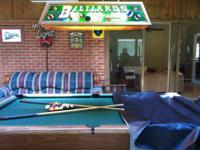 Pool Table with Billiard Light Included I have a pool