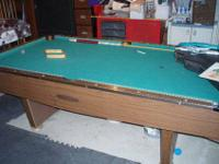 This is a Frederick Willys CO. pool table. It is about