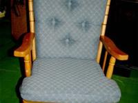 This charming and comfortable rocker glider is in very
