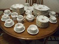"$600 - Very nice WAWEL ""Meissen Flower"" CHINA SET."