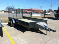 76 x 12 Stealth Custom Utility Trailer, Toolbox, POWDER