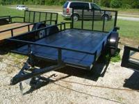 New 76X12 dove tail trailer with 3 Foot gate. New tires