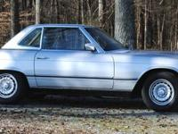 77 450SL hard top convertible. Get it before spring.