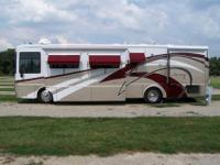This motorhome is a one of a kind. It is 36 ft. and has