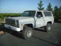 I am parting out my 77 CChevy K5 Blazer because i dont