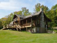 This beautiful log home features a great kitchen with