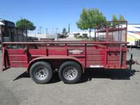 "Pre-Owned 77"" x 12' Landscape Trailer 7,000lb GVWR Two"