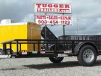 77x12 Diamond C Single Axle Utility/Equipment Trailer