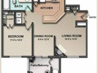 8 month SUB-LEASE for One Bed One Bath @ DEERFIELD