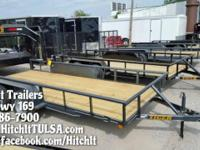 77 x 16 Pipe Top Tandem Axle Utility Trailer 3 x 2 x